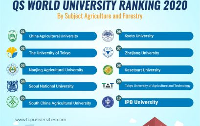 IPB University Top 10 Asia QS World University Ranking 2020 by Subject Agriculture and Forestry